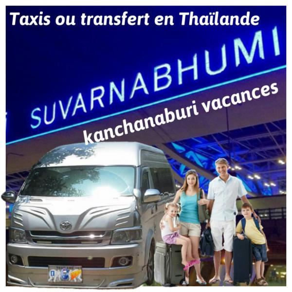 Taxis ou transfert de l'aéroport Suvarnabhumi Bangkok Thaïlande