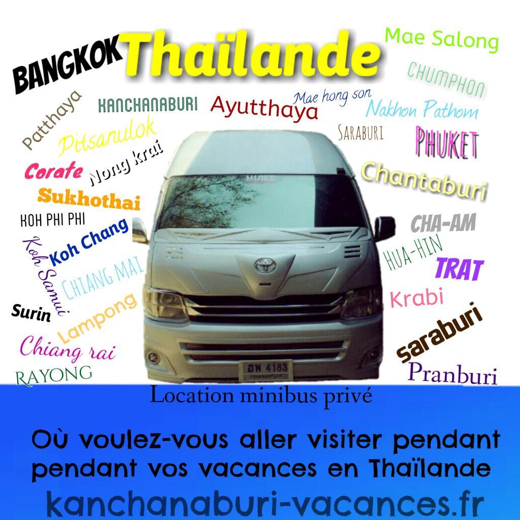 Bangkok, Chiang-mai, Kanchanaburi, Don Sak, Koh Chang
