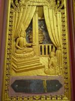 décoration murale du wat tham sua kanchanaburi
