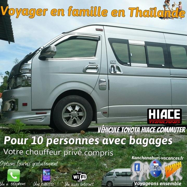 Les vacances avec hiace kanchanaburi vacances thailande