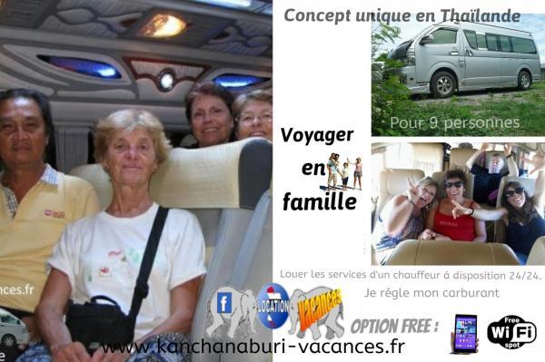 minivan Thaïlande déplacement