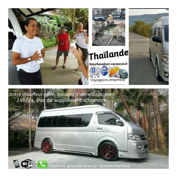 minivan kanchanaburi vacances Thailande